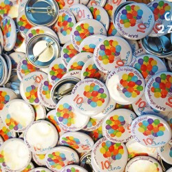 badge magnet 32 ballon anniversaire