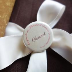 badge magnet marque-place oui ivoire bordeau chocolat