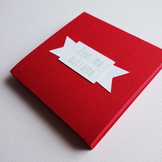 boite tiroir magnet rouge