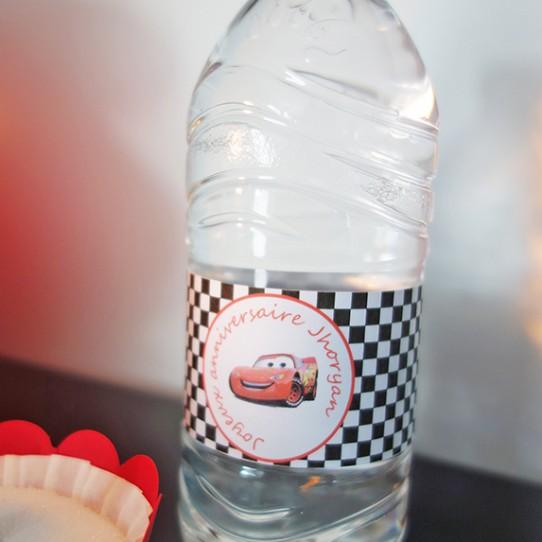 etiquette bouteille cars