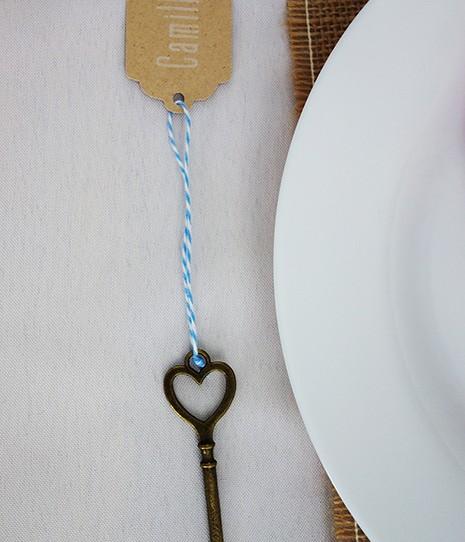 marque-place clef bronze kraft 1