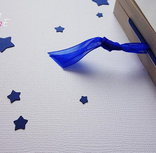 remerciement marque-page étoile bleu nuit blanc 2