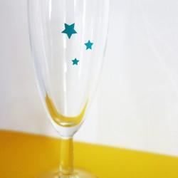 stickers étoile bleu bermude