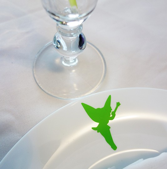 stickers clochette vert anis