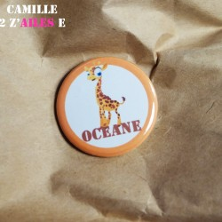 badge magnet 32 girafe