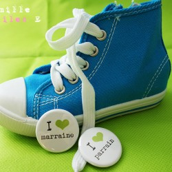 badge magnet 32 love marraine parrain vert anis