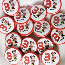 badge magnet 32 minnie rouge