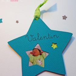 faire-part étoile naissance bermude taupe anis photo 1