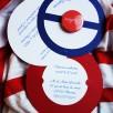 faire-part bonnet marin badge magnet bleu nuit blanc rouge 3