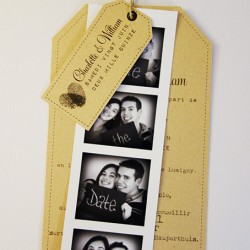 faire-part mariage photomaton vintage kraft 1