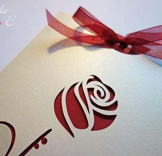faire-part pochette rose ivoire irisé bordeaux 2