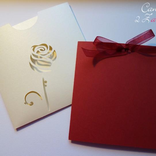faire-part pochette rose ivoire irisé bordeaux 3