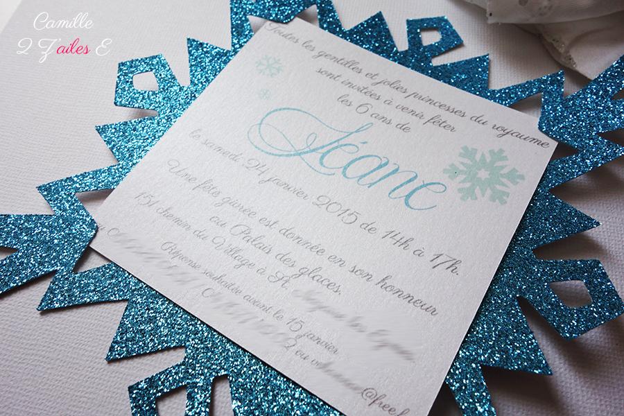 Invitation flocon reine des neiges camille 2 zailes e invitation anniversaire flocon paillet reine neiges 2 stopboris Images