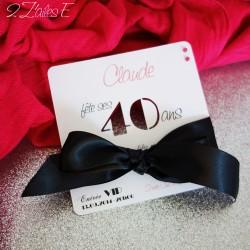 invitation glamour âge ruban 1