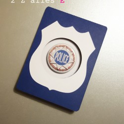 invitation policier badge magnet