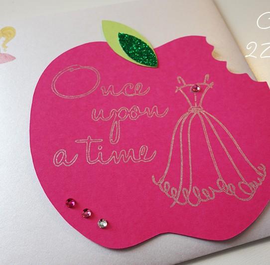 invitation pomme croquée princesse 1