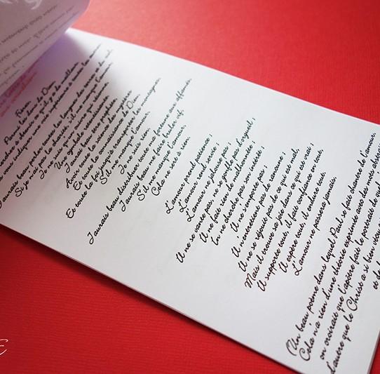livret de messe rose rouge blanc irisé 6