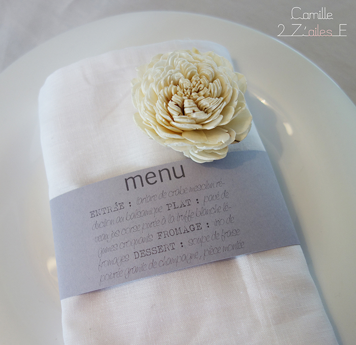 ... rond de serviette menu bandeau rond de serviette 0 avis menu rond