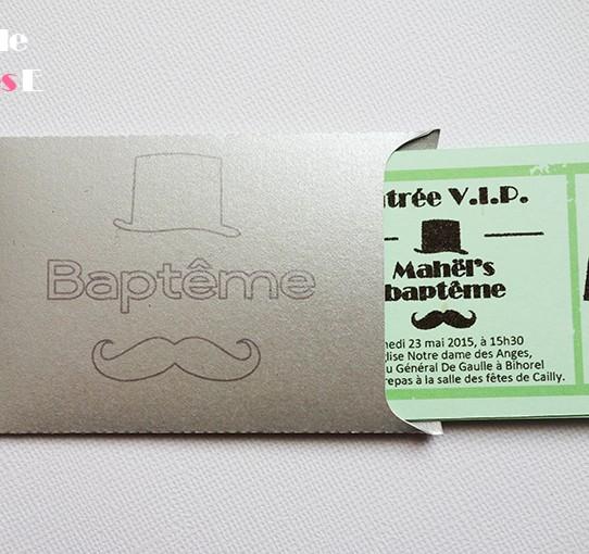 mini pochette moustache ciné argent vert eau 2