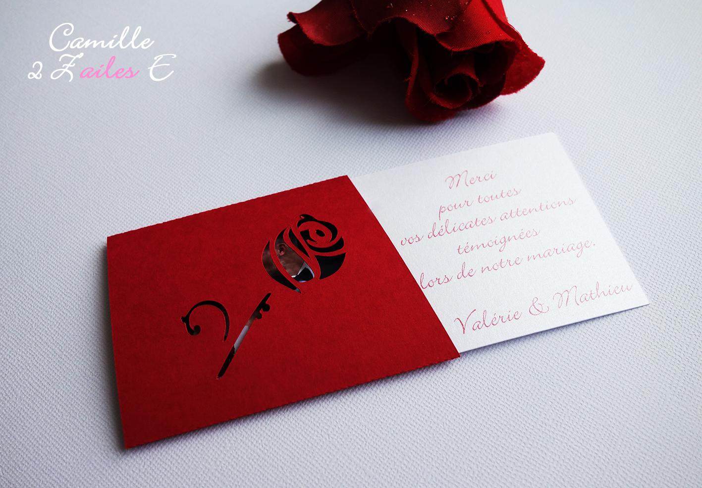 camille 2 z 39 ailes e remerciement magique la rose. Black Bedroom Furniture Sets. Home Design Ideas