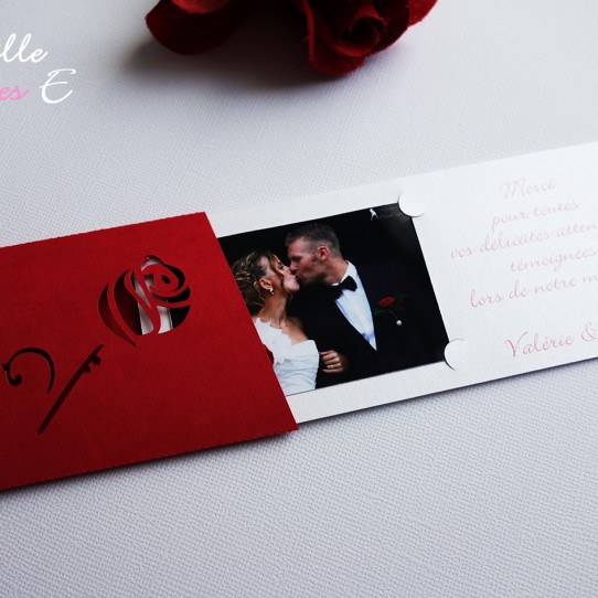 remerciement mariage rose rouge2