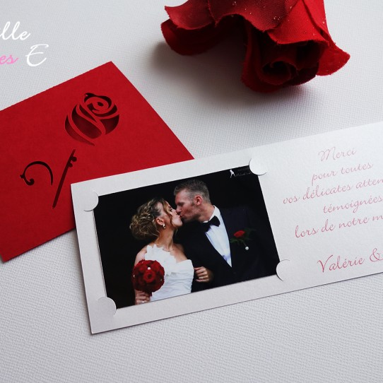 remerciement mariage rose rouge3