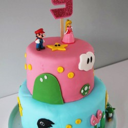toppers age rose paillette gateau mario