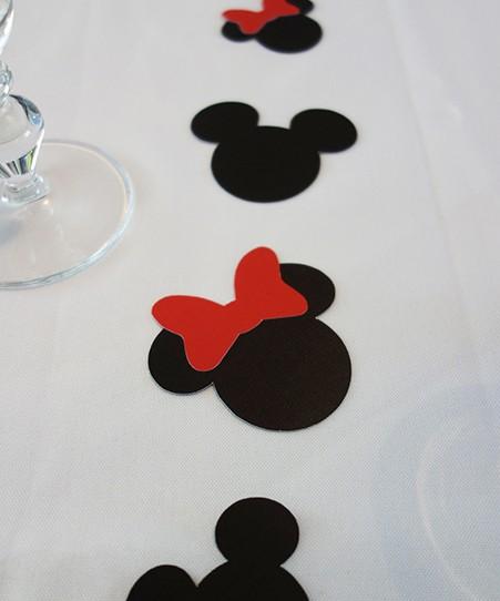 confetti mickey minnie noir rouge
