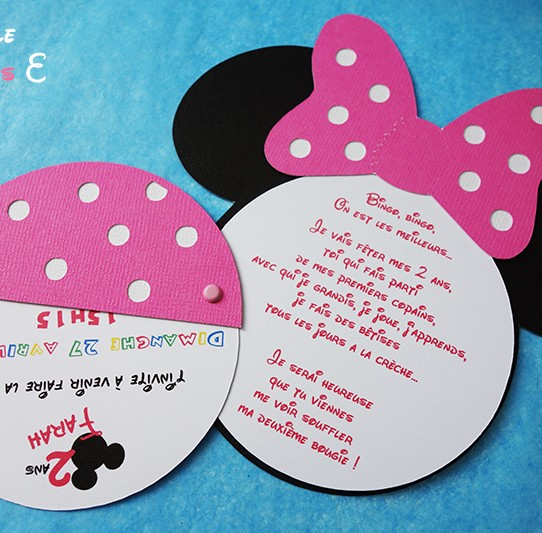 Fabulous Texte faire part bapteme minnie – Table de lit a roulettes IF91