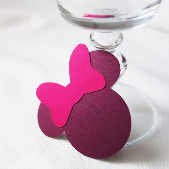 marque-place minnie violet rose fuchsia