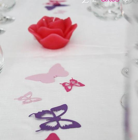 confetti grand papillon fuchsia violet rose dragée