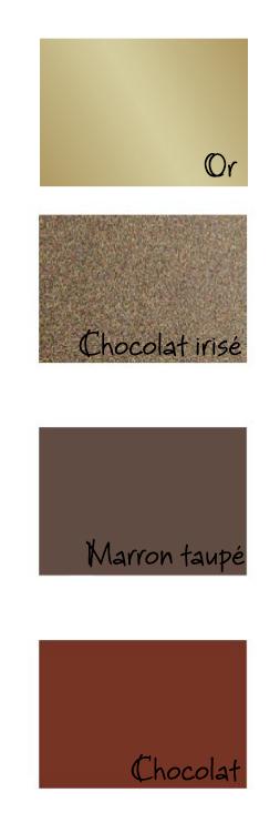 couleurs papier chocolat