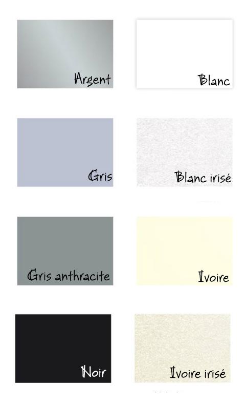 couleurs papier gris