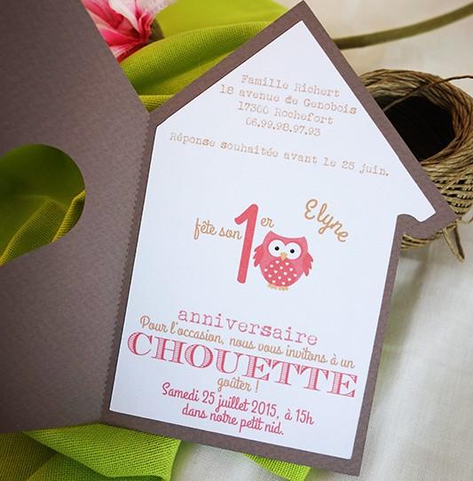Célèbre Faire-part Très Chouette | Camille 2 z\'ailes E| Créations de  OO64
