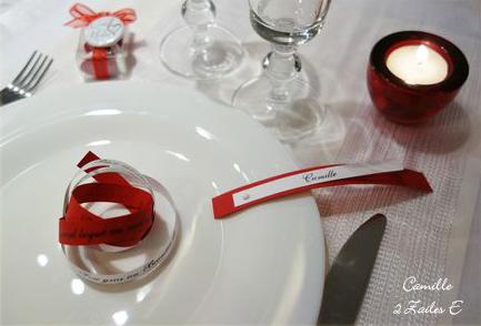 menu infini rouge argent blanc irisé 3
