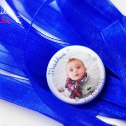 badge photo enfant bleu nuit 1