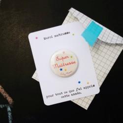 remerciement maîtresse badge 32 carte
