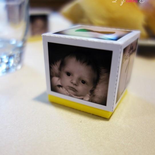 boite dragées photo sepia jaune 3
