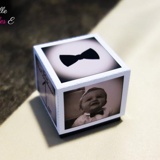 boite dragées photo sepia noir blanc 1