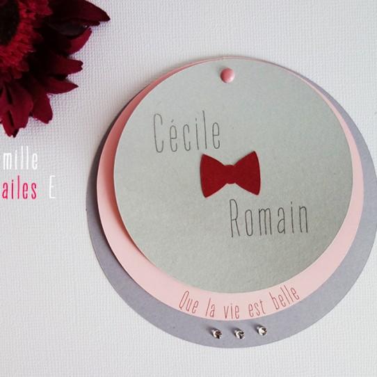 Relativ Faire-part Rond Noeud papillon | Camille 2 z\'ailes E| Créations  LI92