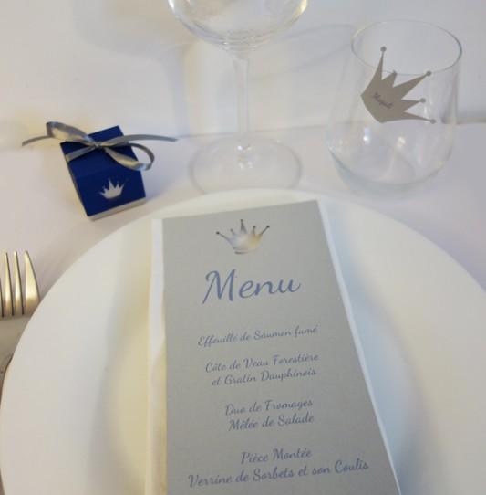 deco table prince bleu argent 1
