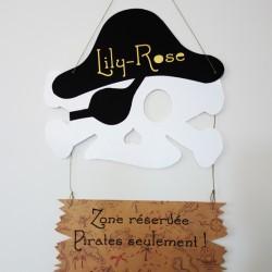 pancarte écriteau pirate tete mort