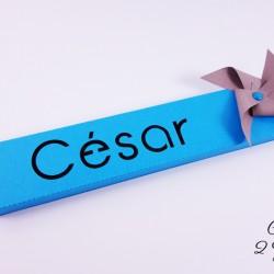 boite étui prénom moulin vent bleu turquoise chocolat taupe 1