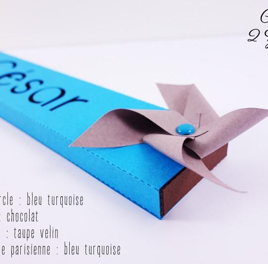 boite étui prénom moulin vent bleu turquoise chocolat taupe 2