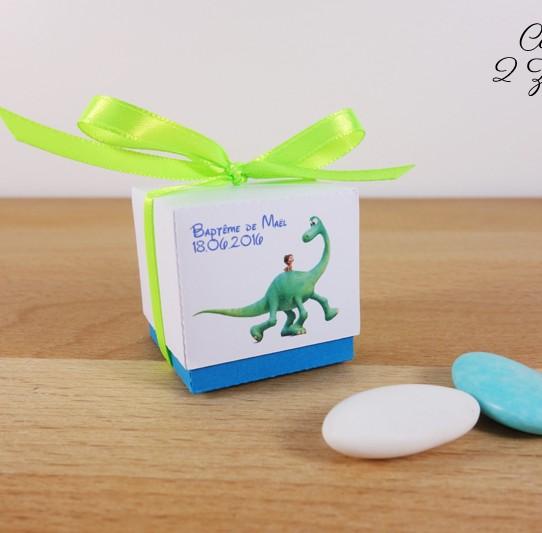 boite dragées arlo spot bleu turquoise vert anis 2