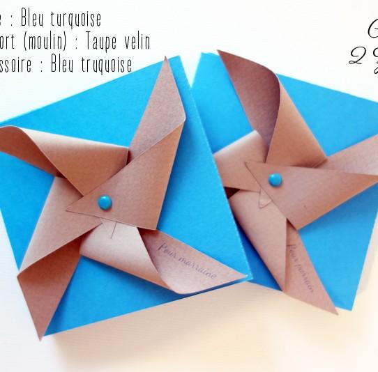 boite tiroir magnet miroir moulin vent bleu turquoise taupe