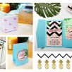 collection-faire-part-menu-boite-dragee-badge-marque-place-flamant-rose-tropical