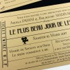 faire-part ticket cinema vintage noir kraf 2