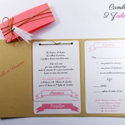 faire-part kraft corail 3