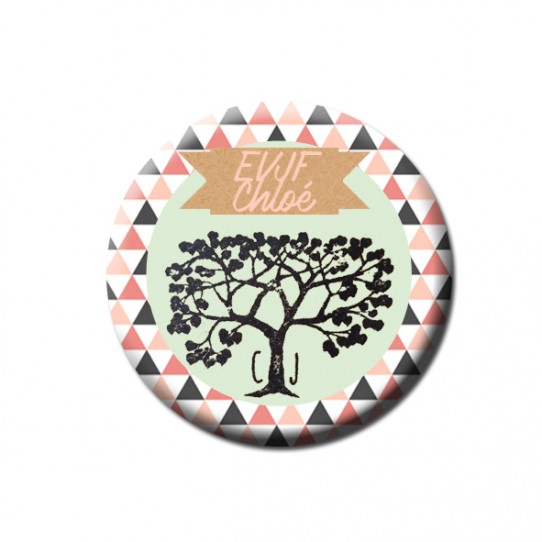badge 32 arbre geometrique evjf